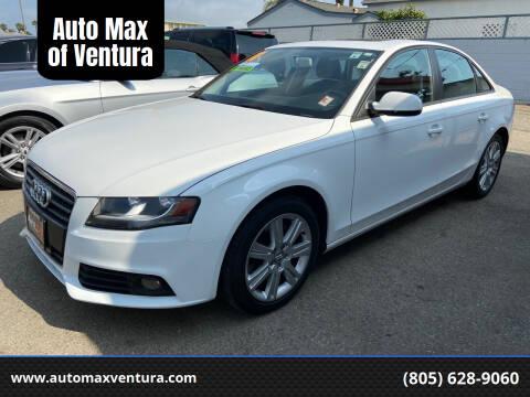 2011 Audi A4 for sale at Auto Max of Ventura in Ventura CA