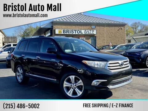 2012 Toyota Highlander for sale at Bristol Auto Mall in Levittown PA