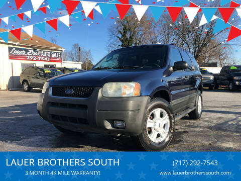 2004 Ford Escape for sale at LAUER BROTHERS SOUTH in York PA