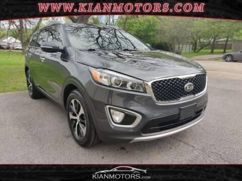 2016 Kia Sorento for sale at KIAN MOTORS INC in Denton TX