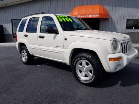 2004 Jeep Liberty for sale at Moores Auto Sales in Greeneville TN