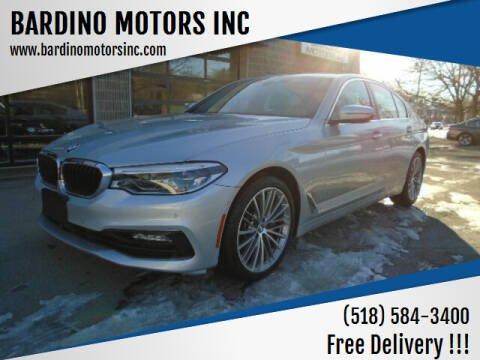2017 BMW 5 Series for sale at BARDINO MOTORS INC in Saratoga Springs NY