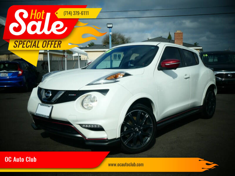 2016 Nissan JUKE for sale at OC Auto Club in Midway City CA