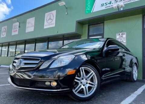 2010 Mercedes-Benz E-Class for sale at KARZILLA MOTORS in Oakland Park FL