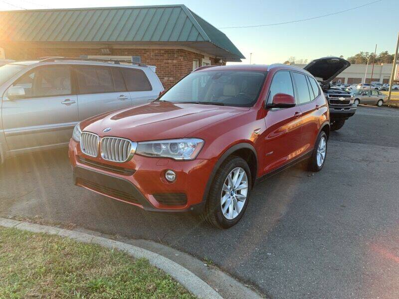 2016 BMW X3 for sale at Main Street Auto LLC in King NC