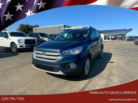 2018 Ford Escape for sale at Paris Auto Sales & Service in Big Rapids MI