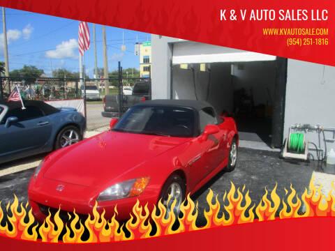 2003 Honda S2000 for sale at K & V AUTO SALES LLC in Hollywood FL