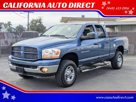 2006 Dodge Ram Pickup 2500 for sale at CALIFORNIA AUTO DIRECT in Costa Mesa CA
