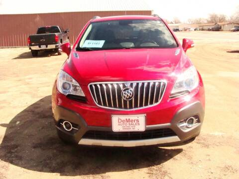 2016 Buick Encore for sale at DeMers Auto Sales in Winner SD