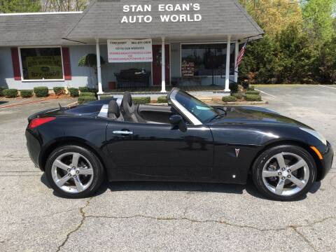2008 Pontiac Solstice for sale at STAN EGAN'S AUTO WORLD, INC. in Greer SC