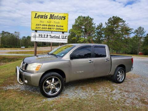 2007 Nissan Titan for sale at Lewis Motors LLC in Deridder LA