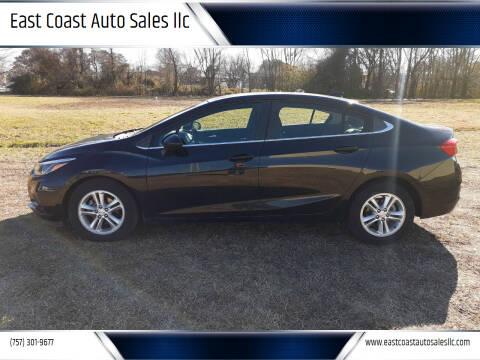 2016 Chevrolet Cruze for sale at East Coast Auto Sales llc in Virginia Beach VA