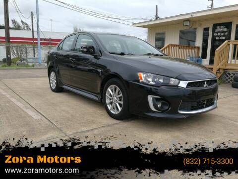 2016 Mitsubishi Lancer for sale at Zora Motors in Houston TX