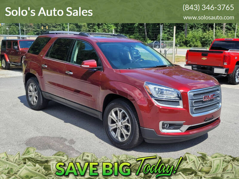 2015 GMC Acadia for sale at Solo's Auto Sales in Timmonsville SC