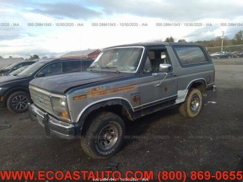 1986 Ford Bronco for sale at East Coast Auto Source Inc. in Bedford VA