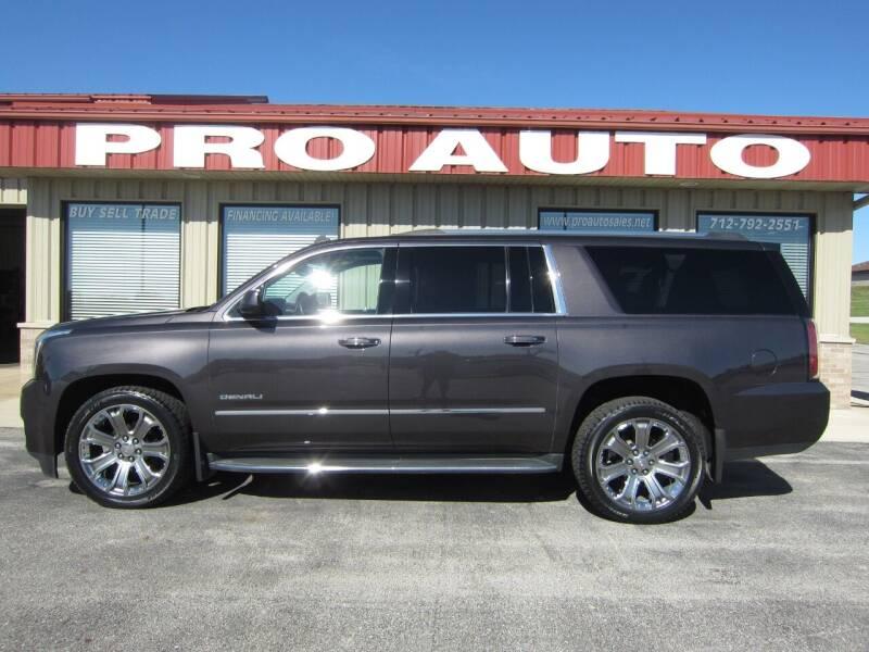 2015 GMC Yukon XL for sale at Pro Auto Sales in Carroll IA