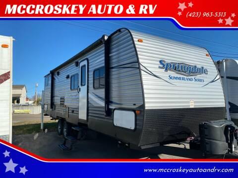 2017 Keystone Summerland 2980BH for sale at MCCROSKEY AUTO & RV in Bluff City TN