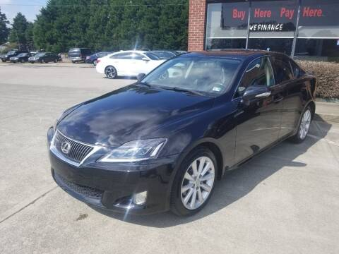2009 Lexus IS 250 for sale at Pinnacle Acceptance Corp. in Franklinton NC