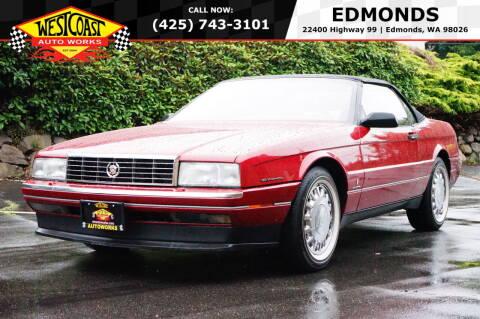 1993 Cadillac Allante for sale at West Coast Auto Works in Edmonds WA