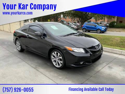 2012 Honda Civic for sale at Your Kar Company in Norfolk VA