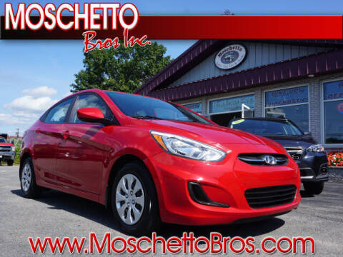 2016 Hyundai Accent for sale at Moschetto Bros. Inc in Methuen MA