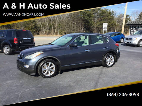 2008 Infiniti EX35 for sale at A & H Auto Sales in Greenville SC