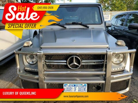 2018 Mercedes-Benz G-Class for sale at LUXURY OF QUEENS,INC in Long Island City NY