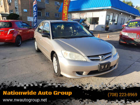 2005 Honda Civic for sale at Nationwide Auto Group in Melrose Park IL