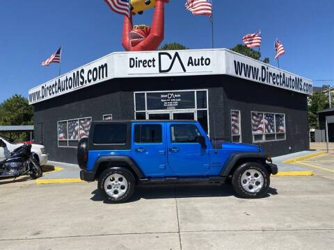 2016 Jeep Wrangler Unlimited for sale at Direct Auto in D'Iberville MS