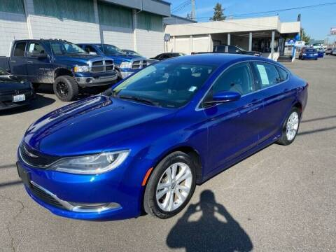 2016 Chrysler 200 for sale at TacomaAutoLoans.com in Lakewood WA
