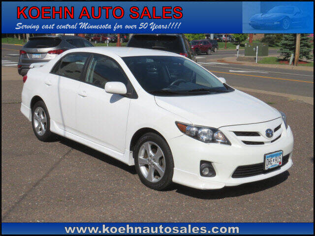 2012 Toyota Corolla for sale at Koehn Auto Sales in Lindstrom MN