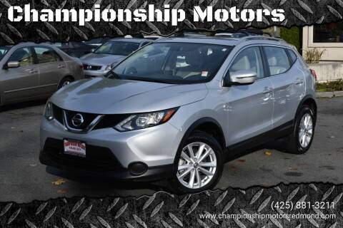 2018 Nissan Rogue Sport for sale at Mudarri Motorsports - Championship Motors in Redmond WA