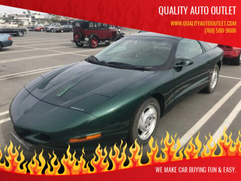 1994 Pontiac Firebird for sale at Quality Auto Outlet in Vista CA