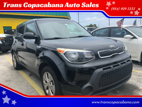 2016 Kia Soul for sale at Trans Copacabana Auto Sales in Hollywood FL