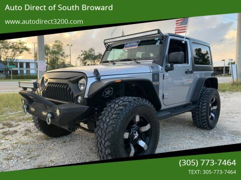 2016 Jeep Wrangler for sale at Auto Direct of South Broward in Miramar FL