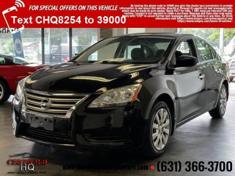 2013 Nissan Sentra for sale at CERTIFIED HEADQUARTERS in Saint James NY