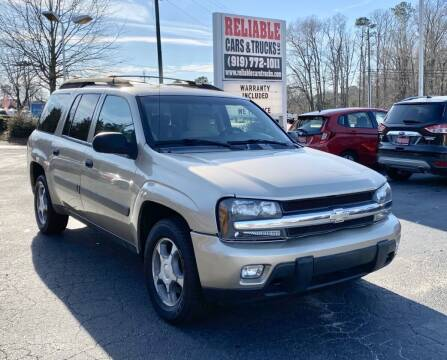 2005 Chevrolet TrailBlazer EXT for sale at Reliable Cars & Trucks LLC in Raleigh NC
