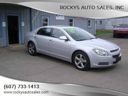 2012 Chevrolet Malibu for sale at Rockys Auto Sales, Inc in Elmira NY