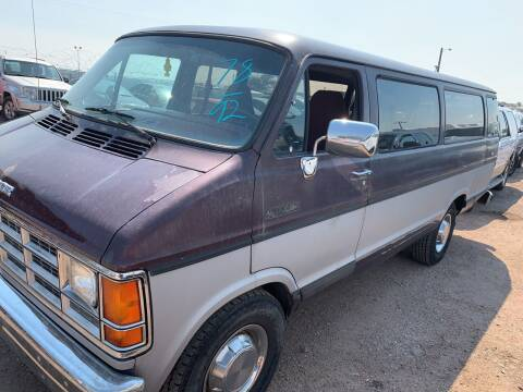 1992 Dodge Ram Wagon for sale at PYRAMID MOTORS - Fountain Lot in Fountain CO