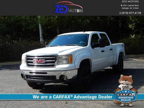 2012 GMC Sierra 1500 for sale at Zed Motors in Raleigh NC