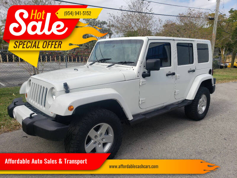 2010 Jeep Wrangler Unlimited for sale at Affordable Auto Sales & Transport in Pompano Beach FL