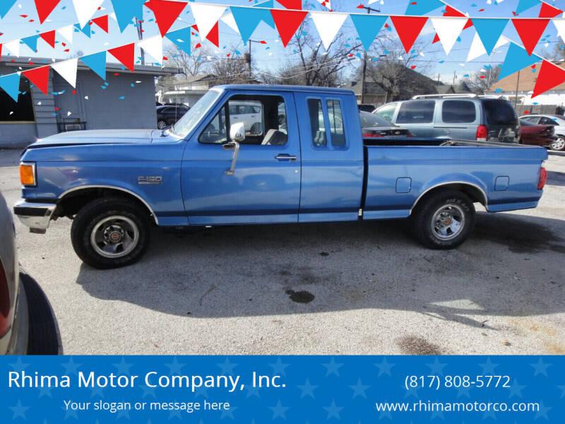 1991 Ford F-150 for sale at Rhima Motor Company, Inc. in Haltom City TX