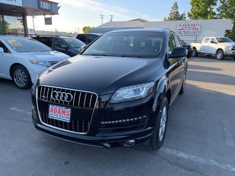 2015 Audi Q7 for sale at Adams Auto Sales in Sacramento CA