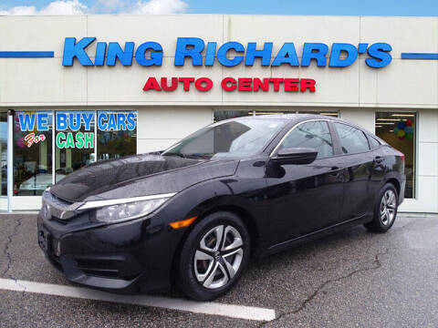 2016 Honda Civic for sale at KING RICHARDS AUTO CENTER in East Providence RI