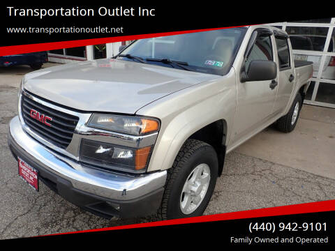 2006 GMC Canyon for sale at Transportation Outlet Inc in Eastlake OH