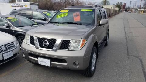 2005 Nissan Pathfinder for sale at Howe's Auto Sales in Lowell MA
