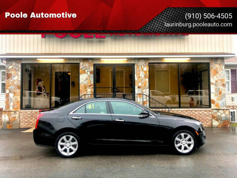 2013 Cadillac ATS for sale at Poole Automotive in Laurinburg NC