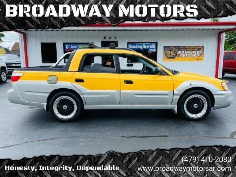2003 Subaru Baja for sale at BROADWAY MOTORS in Van Buren AR