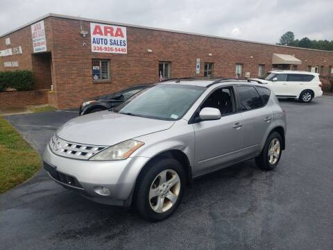 2004 Nissan Murano for sale at ARA Auto Sales in Winston-Salem NC