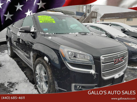 2015 GMC Acadia for sale at Gallo's Auto Sales in North Bloomfield OH